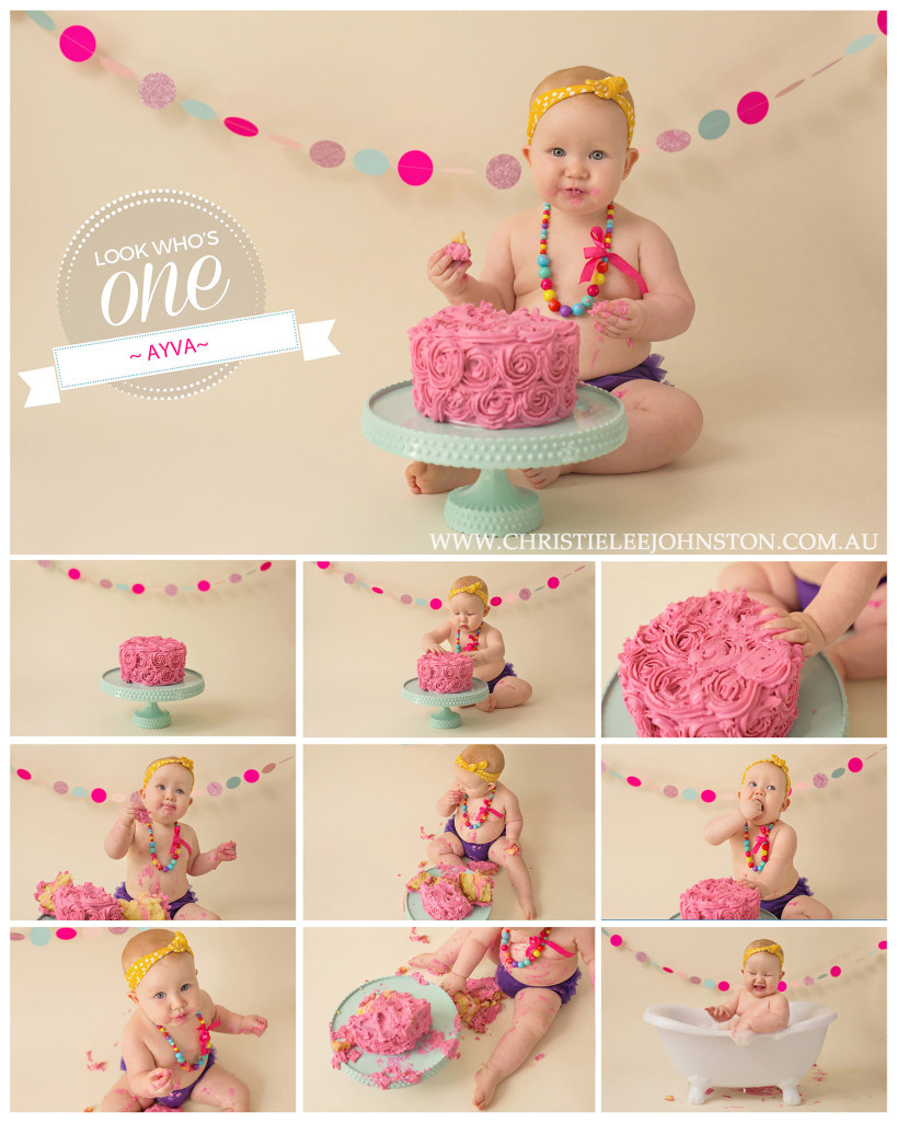 Toowoomba Cake Smash Photographer - Ayva
