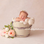Newborn photos toowoomba, bucket